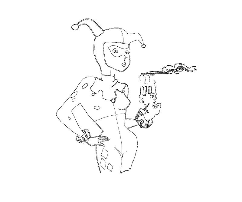 harley quinn coloring pages - photo#35