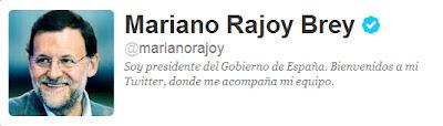 Perfil en Twitter de Mariano Rajoy