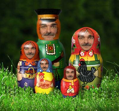Håkan Juholt och ryska dockor.