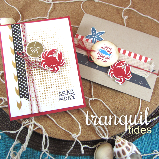 Nautical Cards by Jennifer Jackson | Tranquil Tides Stamp Set by Newton's Nook Designs #sea #ocean #nautical #sea
