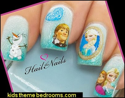Frozen Nail Art Wraps Water Transfers Decals Elsa Olaf Anna Disney