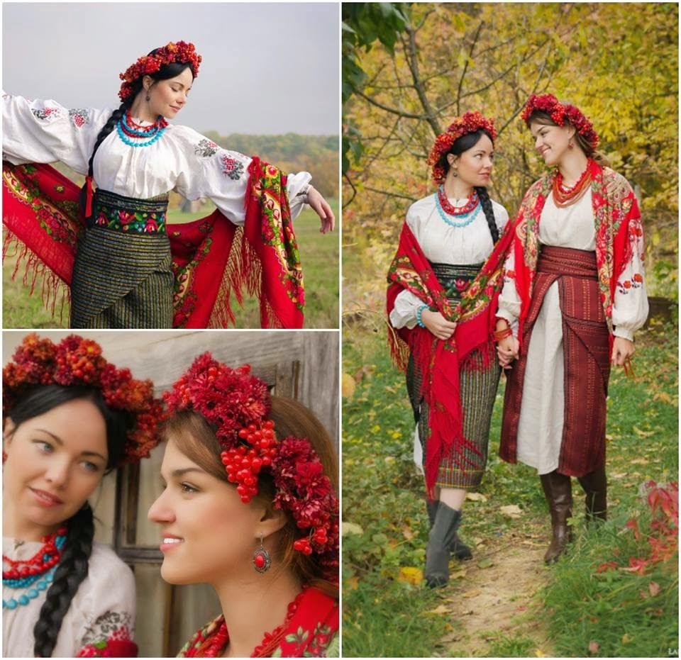 Aux parties ukrainiennes de la jeune mariée ukrainienne