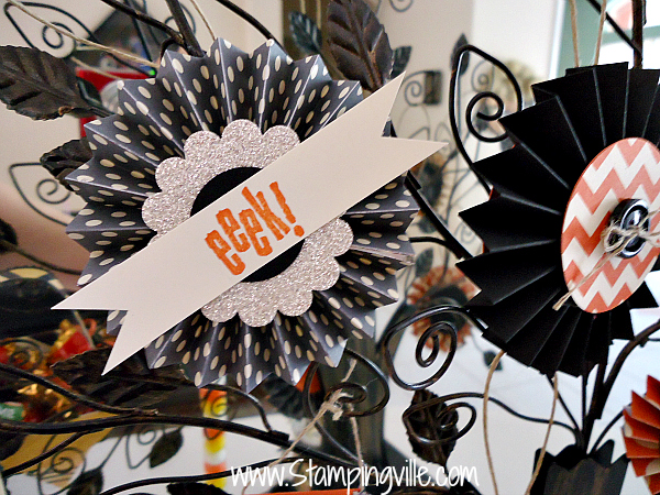 Rosette with Spooky Bingo Bits stamp set by Stampin' Up!