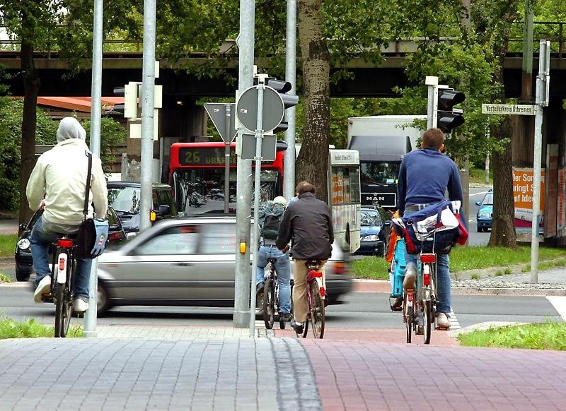 Radfahrer am Utbremer Kreisel
