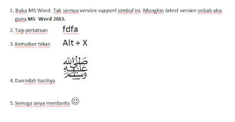 Taip Singkatan SAW di MS Word