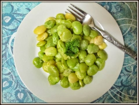 Lima Beans in Garlic Butter