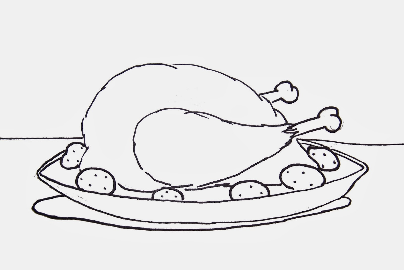 cooked turkey coloring pages