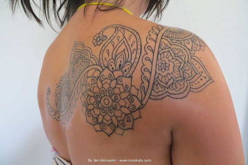 Henna Pattern Tattoo By Jen Akinyemi, Monki Do Tattoo Studio