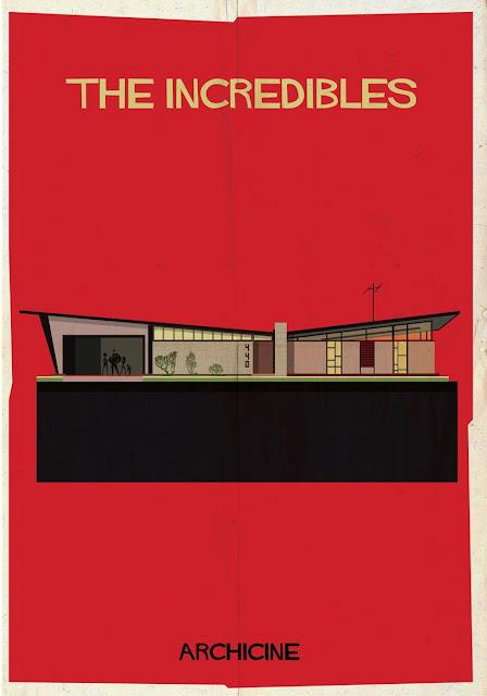 {Art} Architecture in film: Archicine by Frederico Babina | Rue du chat qui peche | The incredibles