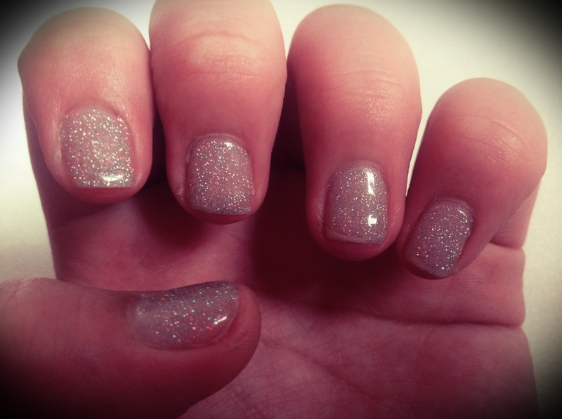 Holographic Glitter x Gel Nails