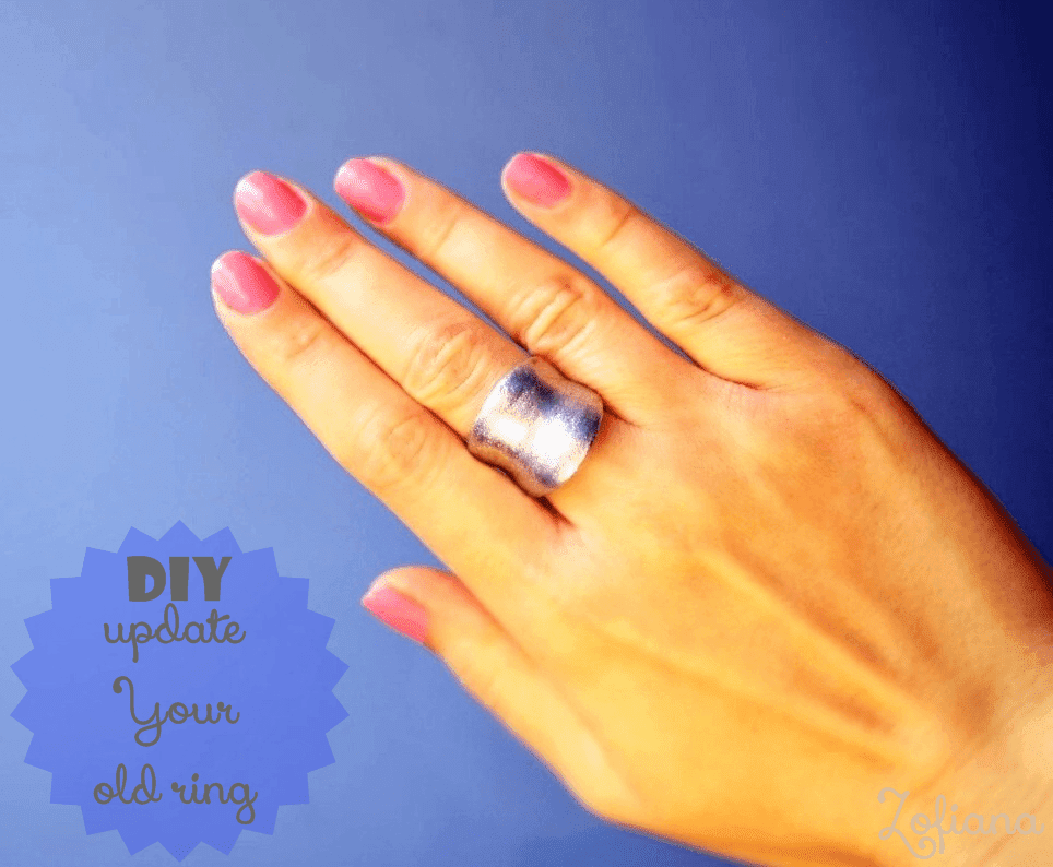 diy update old ring with nail polish