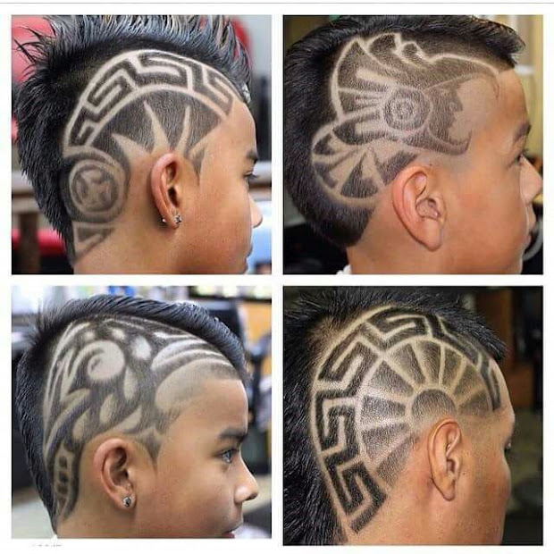 tribal design hair