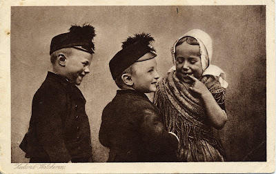 Postcard from Walcheren: Children in traditional dress