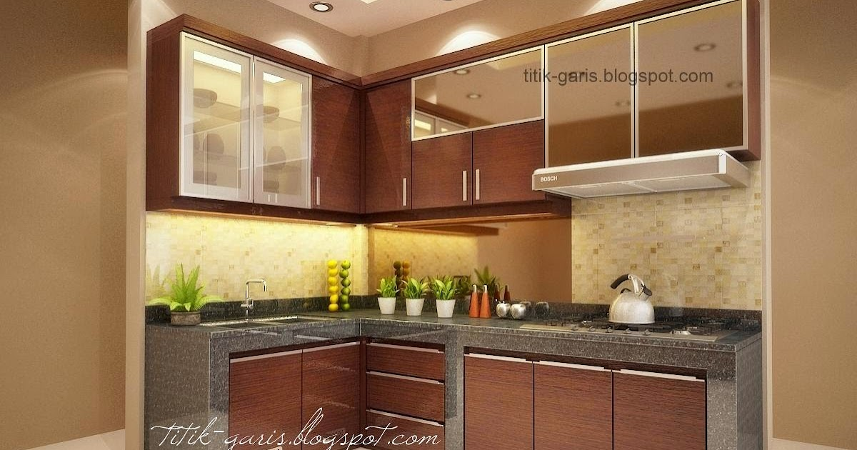 desain dapur mungil bentuk 39 l 39 rumah garis