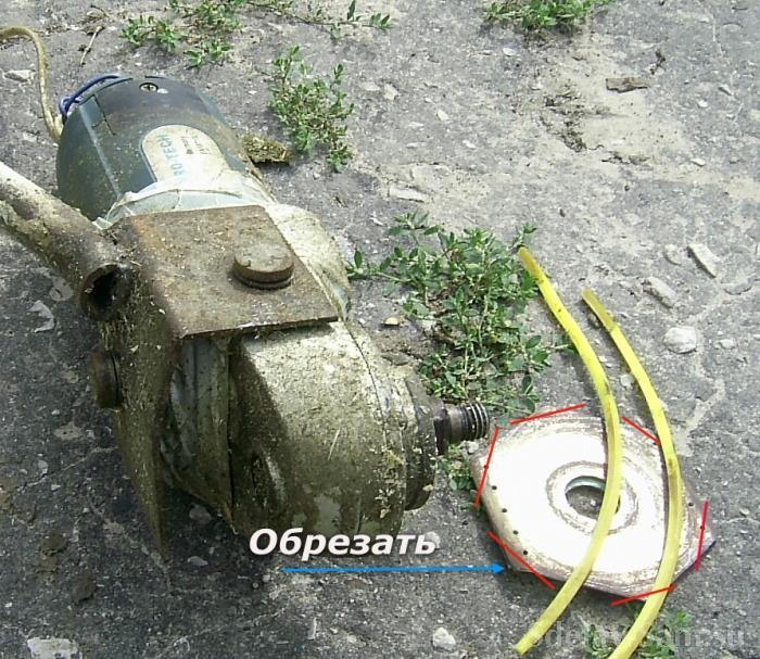 Триммер из болгарки своими руками фото 31