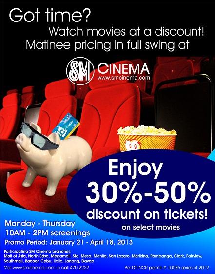 SM Cinema Matinee Pricing Promo