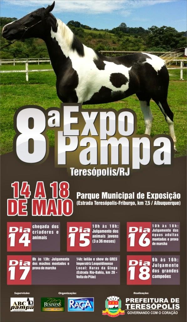 8ª Expo Pampa começa nesta quinta e vai até domingo em Teresópolis-Evento reúne animais de criadores do Rio, São Paulo e Minas