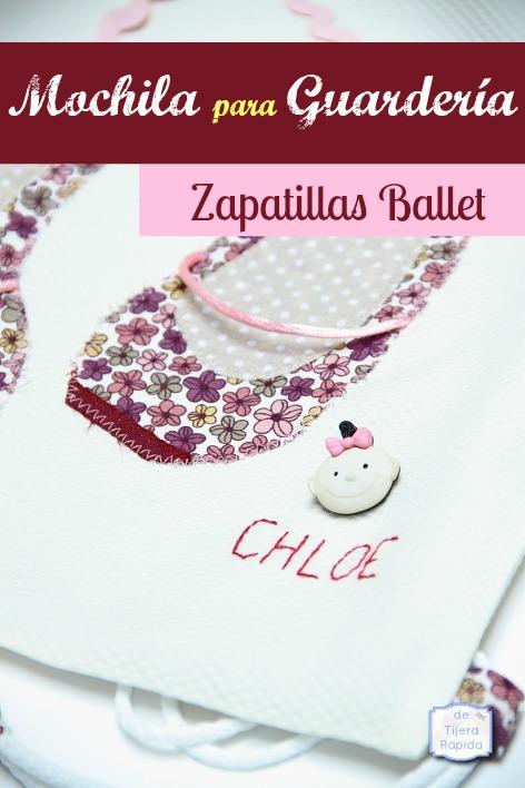 mochila guarderia ballet