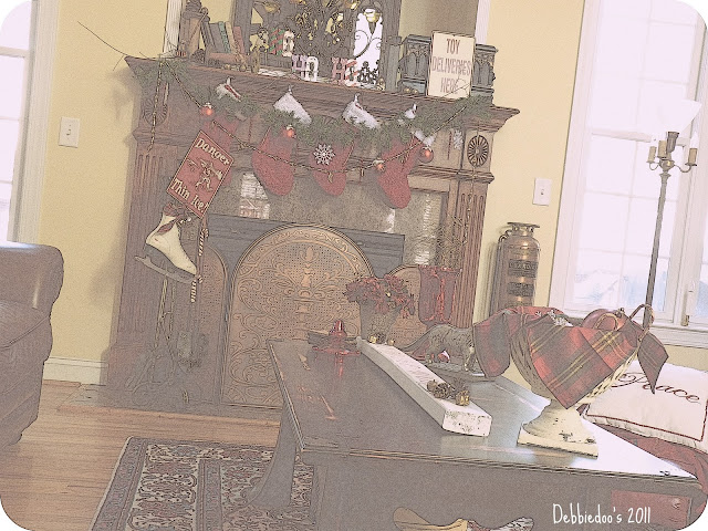mante Christmas mantel {rustic, whimsy}