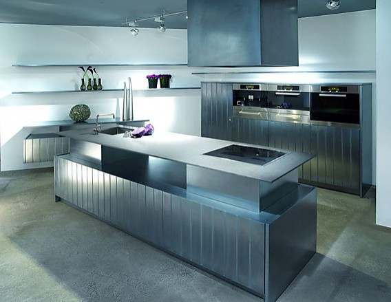 15 fotos de cocinas grises colores en casa - Material para cocinas modernas ...