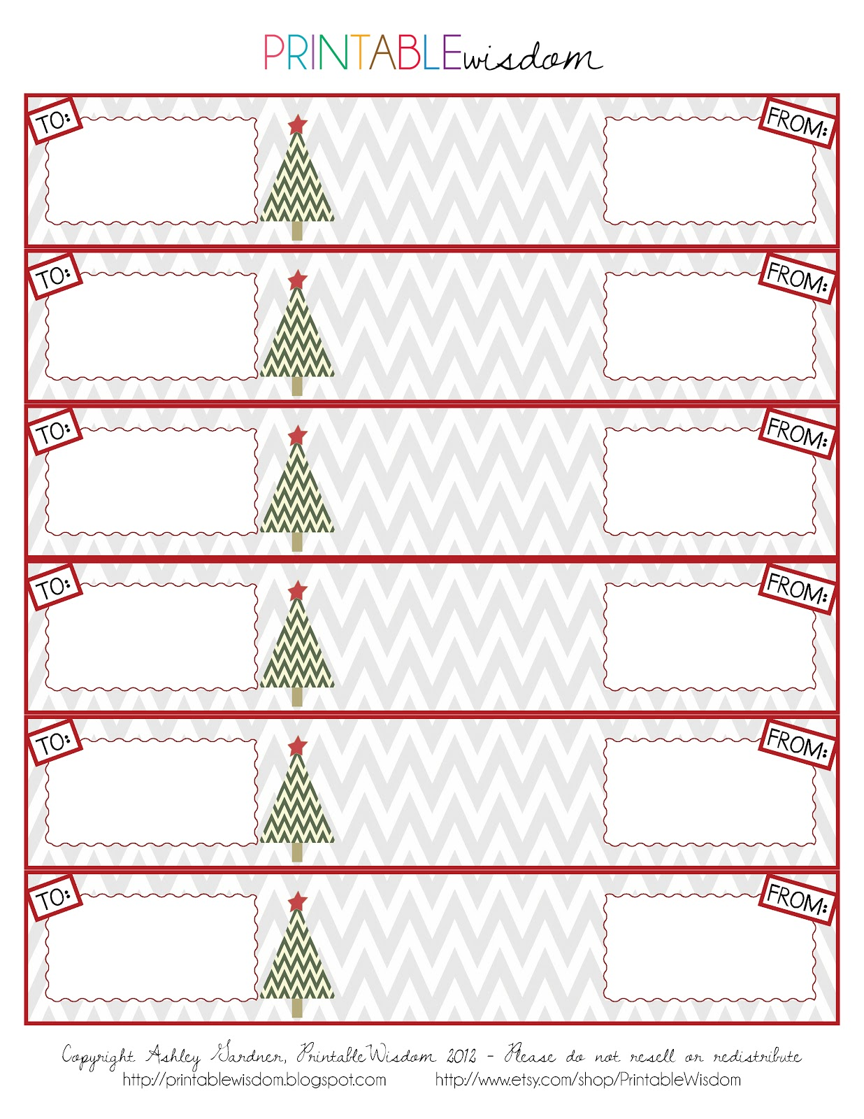 PrintableWisdom: DIY: Christmas card wrap-around address labels + ...