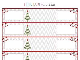Free Printable Christmas Address Labels Avery 5160