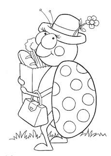 Desenhos de Joaninha para imprimir e colorir
