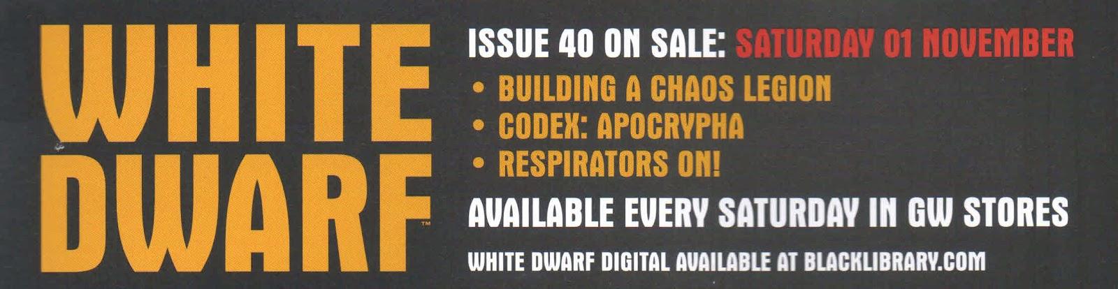 Adelanto de la White Dwarf Weekly 40