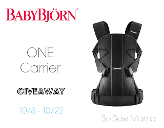 Baby Bjorn One Carrier Giveaway