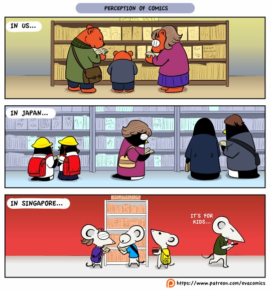 Perception of Comics in US, Japan and Singapore cultural difference webcomics manga