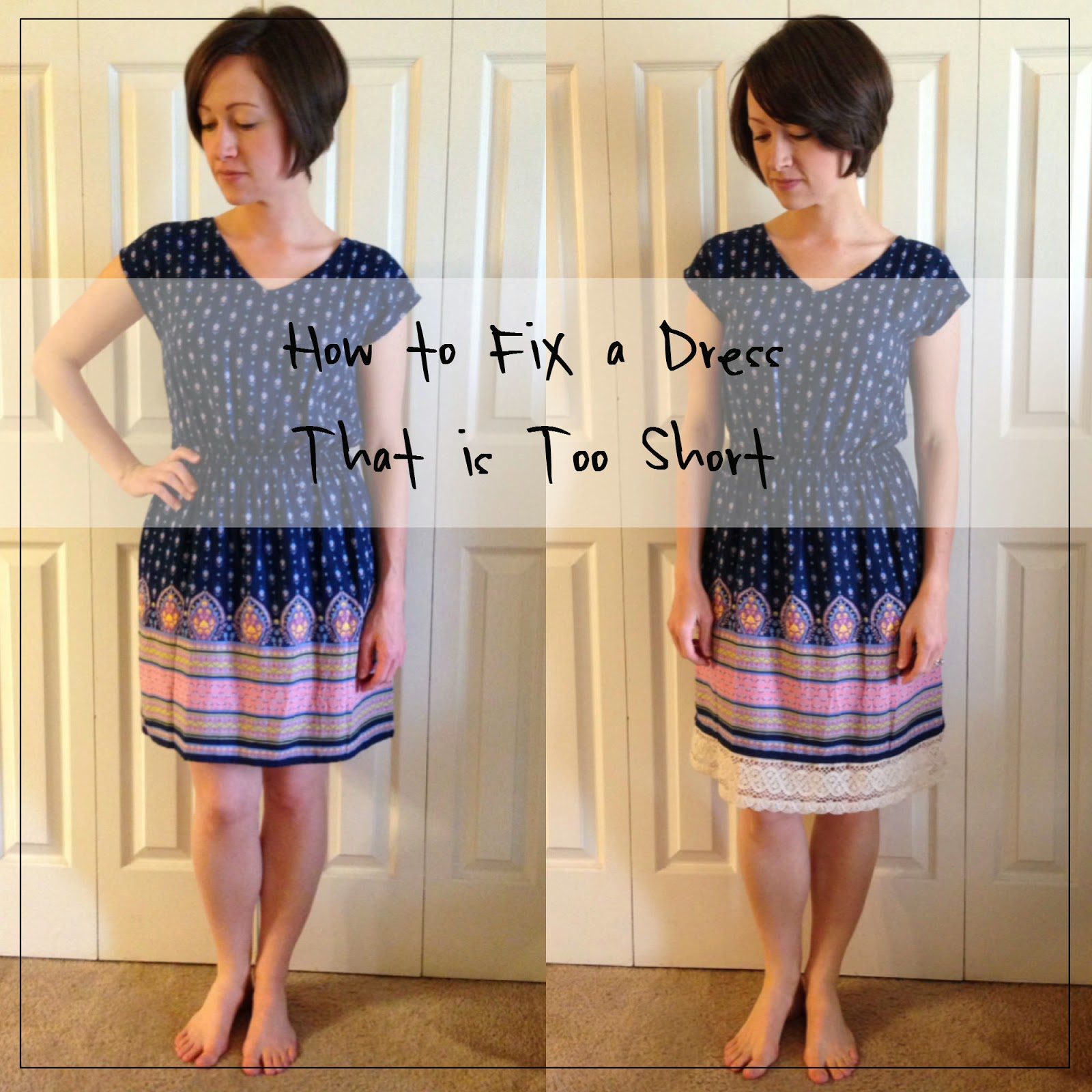 Everyday Bijoux: How to Fix a Dress That is Too Short