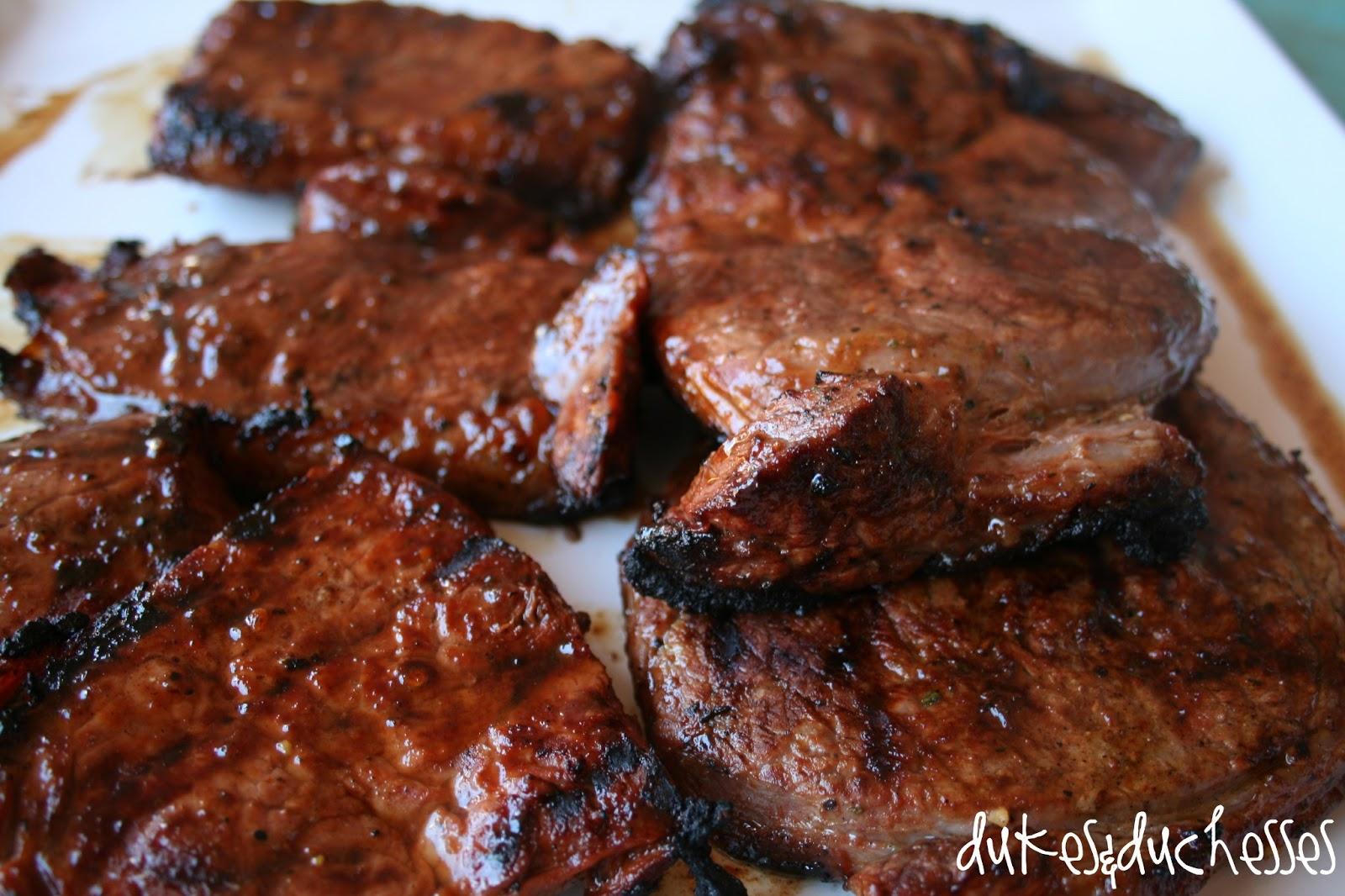 a backyard steak grill off dukes and duchesses