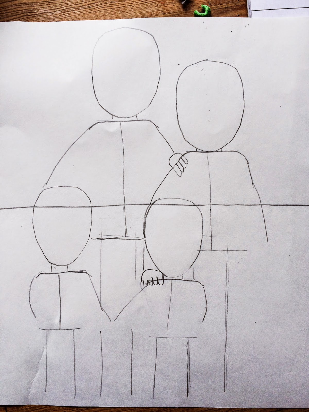 Arms Around Each Other Drawing 5 Then Draw Hair Lines