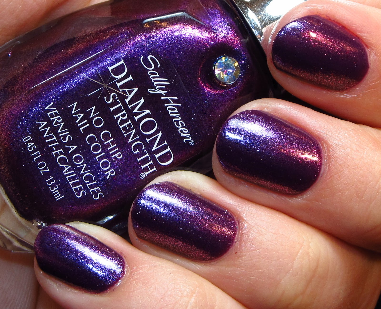 Polish Art Addict: Sally Hansen Diamond Strength - All Aglow