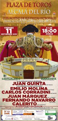 FERIA DE ALCALÁ DEL RÍO 2015 - Cartel Taurino