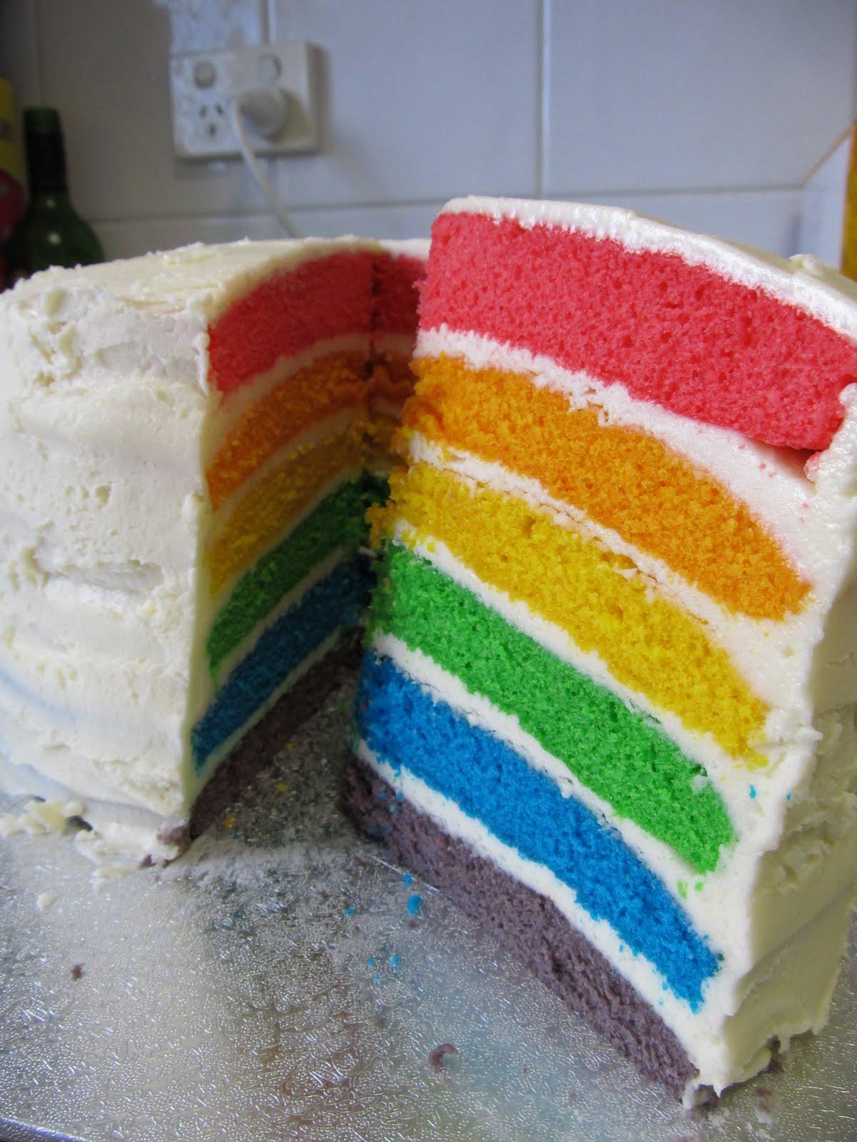 Blogginess: Rainbow Layer Cake - I Did It!