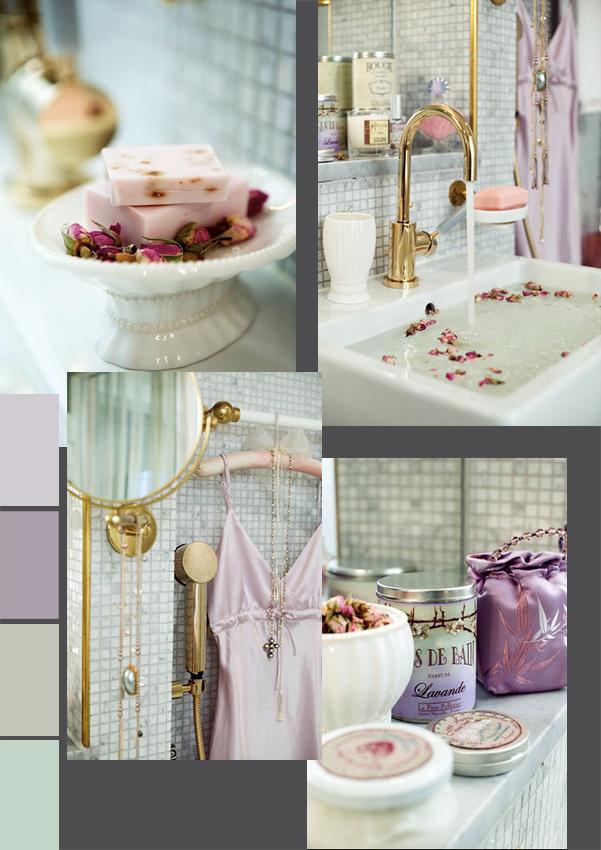 The paper mulberry romantic feminine bathrooms for Idee deco salle de bain