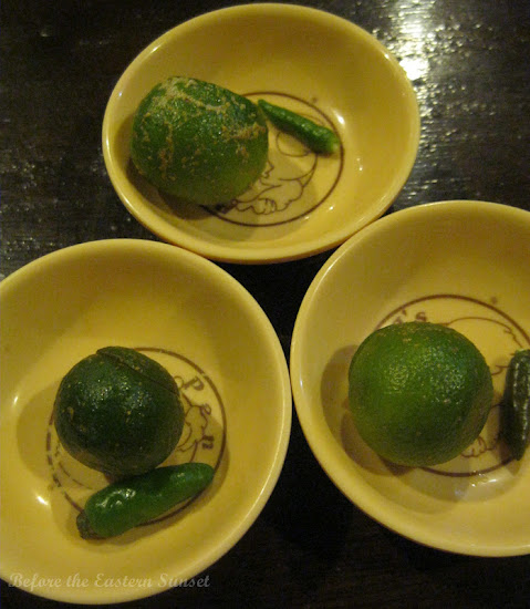 Calamansi and siling labuyo from Penong's, Davao City