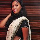 Swathi Narthagi in white Saree  Photo Gallery