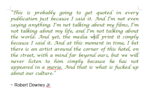 A quote by Robert Downey Jr on the cult of celebrity.