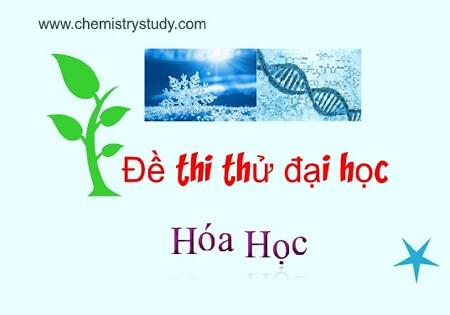 Đề thi thử THPT quốc gia môn Hóa học 2015 chuyên Nguyễn Chí Thanh