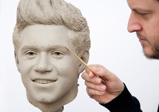 Wax figure Niall Horan gets detailed by Dave Burks (Madam Tussaud's)