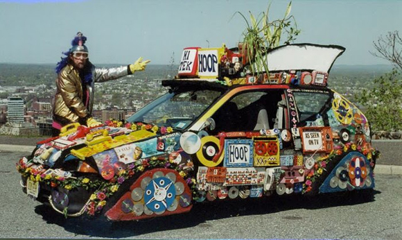 COMMUNICATIONS CAR art car