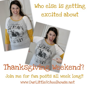 Join me every day this week for some Thanksgiving fun!!