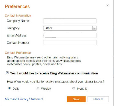 Cara Daftar Bing Preferences