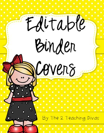the 2 teaching divas editable binder covers
