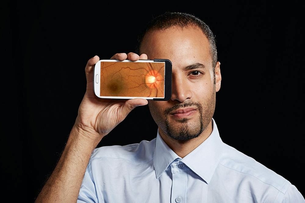 akıllı telefonda göz muayenesi