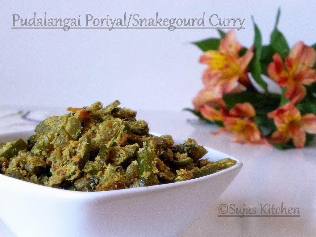 Pudalangai Poriyal / Snake gourd Curry