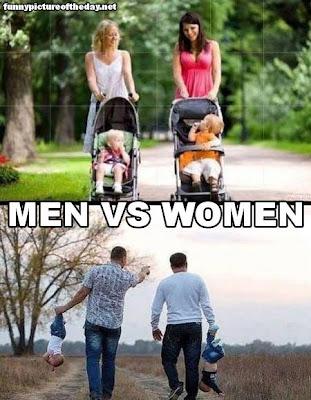 Men Vs Women Funny Taking A Walk With The Kids Men's Married Humor