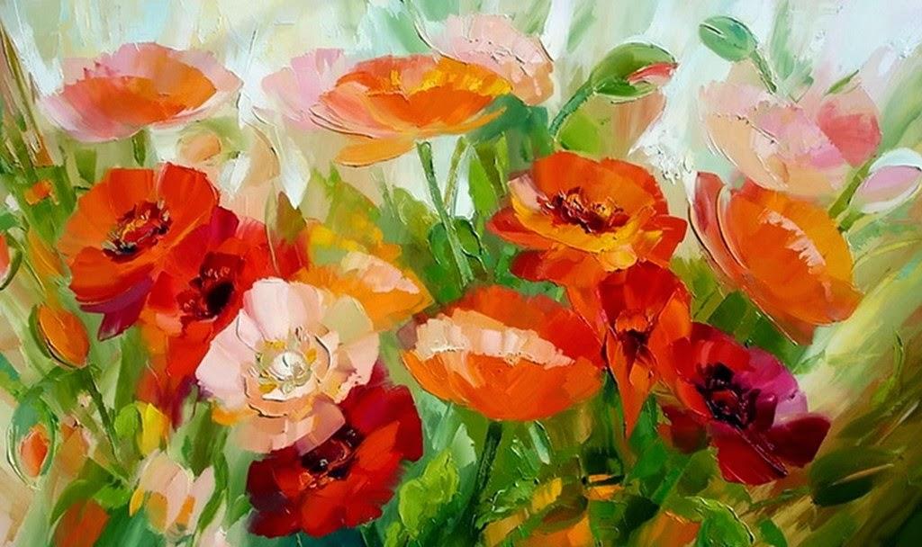 flores-modernas-en-espatula-y-oleo